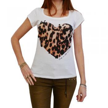 PANTHER HEART: WOMEN'S T-SHIRT SHORT-SLEEVE CELEBRITY ONE IN THE CITY 7015269